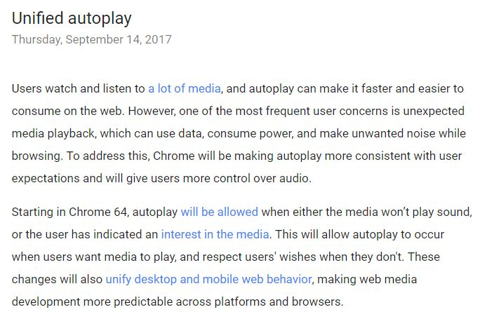 unified autoplay