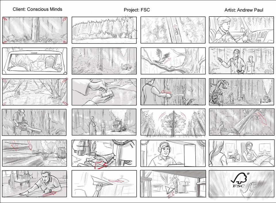 A Traditional Storyboard